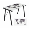 LumiSource Graphic Exponent Desk, White / Black