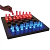 LumiSource Led Glow Chess Set, Blue / Red