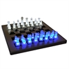 LumiSource Led Glow Chess Set, Blue / White