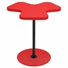 Clover End Table, Red