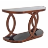 LumiSource Pesce Console Table, Walnut / Black