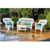 Tortuga Outdoor Portside 4Pc Seating - White - Haliwell Caribbean