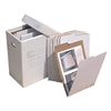 "VFile19 W/10 VFolder19, Vertical Flat File System Filing Box, Stores Flat Items Up to 12""x18"""