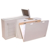 "VFile37 W/8 VFolder37, Vertical Flat File System Filing Box,  Stores Flat Items Up to 24""x36"""