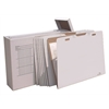 "VFile43 W/8 VFolder43, Vertical Flat File System Filing Box, Stores Flat Items Up to 30"" X 42"""