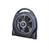"Holmes 12"" Oscillating Floor Fan w/Remote, Breeze Modes, 8hr Timer"