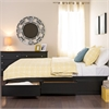 Prepac Black Full Mate's Platform Storage Bed with 6 Drawers