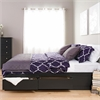 Prepac Black King Mate's Platform Storage Bed with 6 Drawers