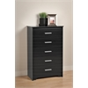 Prepac Black Coal Harbor 5 Drawer Chest