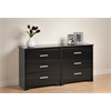Prepac Black Coal Harbor 6 Drawer Dresser