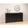 Prepac Black Kallisto 6 Drawer Dresser