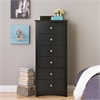 Prepac Black Sonoma Tall 6 Drawer Chest