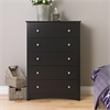 Prepac Black Sonoma 5 Drawer Chest