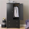 Prepac Black Sonoma 2 Door Armoire