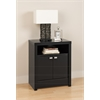 Black Series 9 Designer - 2 Door Tall Nightstand