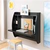 Prepac Black Floating Desk with Storage