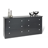 Prepac Black Edenvale 6 Drawer Dresser