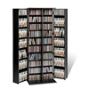 Black Grande Locking Media Storage Cabinet with Shaker Doors