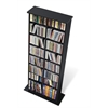 Black Double Multimedia Storage Tower