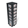 Prepac Black Large 4-Sided Spinning Tower