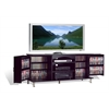 Prepac Premier Large Black Flat Panel Plasma / LCD TV Console with Media Storage