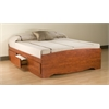 Prepac Cherry Full Mate's Platform Storage Bed with 6 Drawers