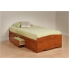 Prepac Cherry Twin Mate's Platform Storage Bed with 3 Drawers