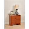Prepac Cherry Monterey 2 Drawer Nightstand