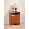 Cherry Monterey Tall 2 Drawer Nightstand with Open Shelf