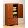 Prepac Cherry Monterey 2 Door Armoire