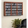 Prepac Cherry & Black Triple Wall Mounted Storage