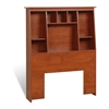 Cherry Twin Tall Slant-Back Bookcase Headboard