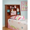 Prepac Cherry Twin Tall Slant-Back Bookcase Headboard