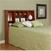 Prepac Cherry Full/Queen Tall Slant-Back Bookcase Headboard