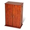 Prepac Cherry & Black Locking Media Storage Cabinet
