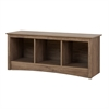 Cubby Bench, Drifted Gray