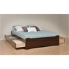 Prepac Espresso Coal Harbor Full Mate's Platform Storage Bed with 6 Drawers
