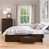 Prepac Espresso Queen Mate's Platform Storage Bed with 6 Drawers