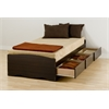 Prepac Espresso Twin XL Mate's Platform Storage Bed with 3 Drawers