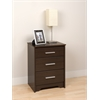 Prepac Espresso Coal Harbor 3 Drawer Tall Nightstand