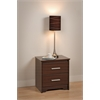 Prepac Espresso Coal Harbor 2 Drawer Nightstand