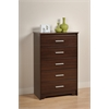 Prepac Espresso Coal Harbor 5 Drawer Chest