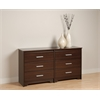Prepac Espresso Coal Harbor 6 Drawer Dresser