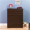 Prepac Astrid 4-Drawer Dresser, Espresso