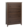 Prepac Yaletown 4-Drawer Chest, Espresso