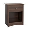 Prepac Fremont 1-drawer Tall Nightstand, Espresso