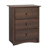 Prepac Fremont 3-drawer Tall Nightstand, Espresso