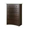 Prepac Espresso Fremont 5 Drawer Chest