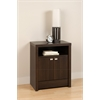 Espresso Series 9 Designer - 2 Door Tall Nightstand