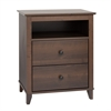 Prepac Yaletown 2-Drawer Tall Nightstand, Espresso